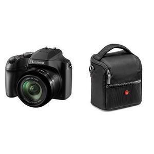 Panasonic DC-FZ82EB-K 60x Optical Zoom Lumix Digital Camera with Manfrotto Shoulder Bag for Camera