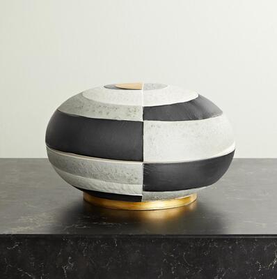 Black Cubisme earthenware box LObjet