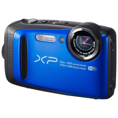 Fujifilm FinePix XP90 Waterproof, Freezeproof, Shockproof, Dustproof Compact Digital Camera, Wi-Fi, Full HD 1080p, 16.4MP, 5x Optical Zoom, 10x Intelligent Zoom, 3