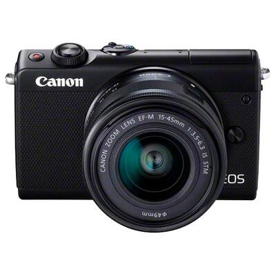 Canon EOS M10 Compact System Camera with EF-M 15-45mm f/3.5-6.3 IS STM Wide Angle Zoom Lens, HD 1080p, 18MP, NFC, Wi-Fi, 3