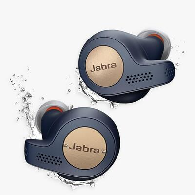 Jabra Elite 65t Active True Wireless Sweat & Weather-Resistant Bluetooth In-Ear Headphones with Mic/Remote