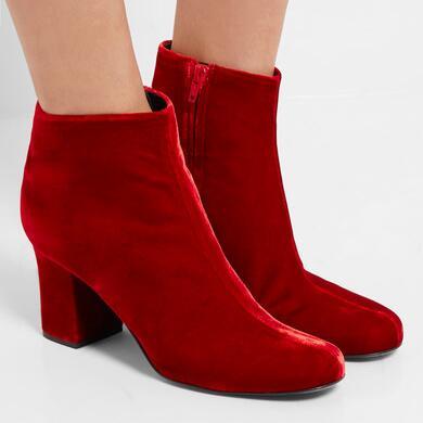 Saint Laurent Babies velvet ankle boots