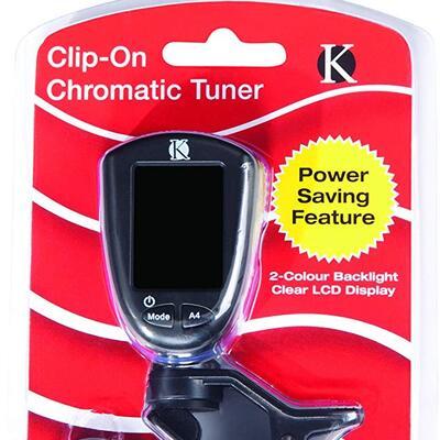 Kinsman KAC205 Chromatic Clip On Tuner - Black