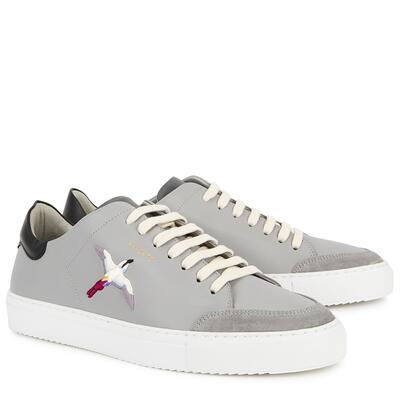 Axel Arigato Clean 90 grey embroidered leather sneakers