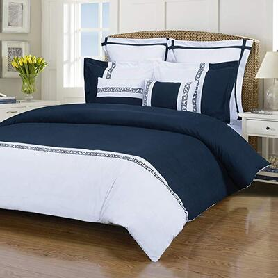 Emma 7-Piece, Wrinkle Resistant, King/California King Duvet Cover Set