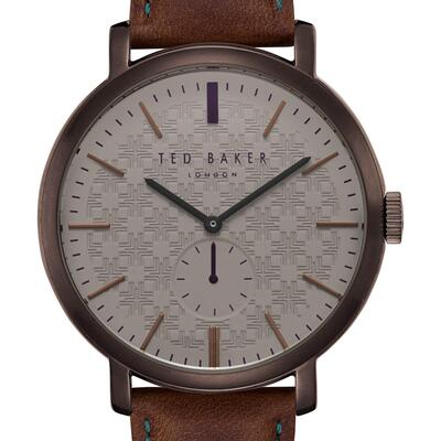1c9821d41 Ted Baker London Trent Leather Strap Watch