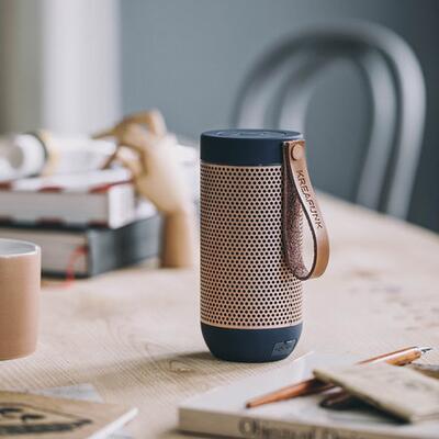 KREAFUNK aFunk 360 Degrees Bluetooth Speaker - Blue/Rose Gold