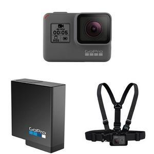 GoPro Hero 5 Black with Additional Hero 5 Battery and Chest Mount