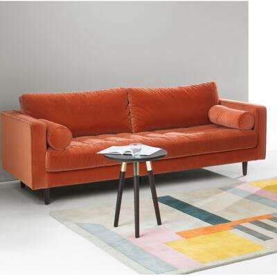 Scott 3 Seater Sofa, Concrete Cotton Velvet MADE.com