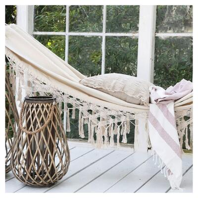 Cream Fringed Hammock Graham & Green
