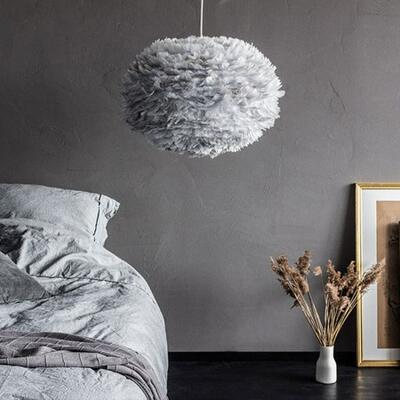 Aurora vita eos feather pendant shades in grey graham green