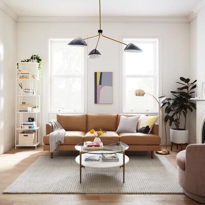 Haven Loft Leather Sofa (218 cm) west elm
