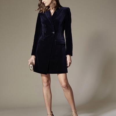 Velvet Tuxedo Dress Karen Millen