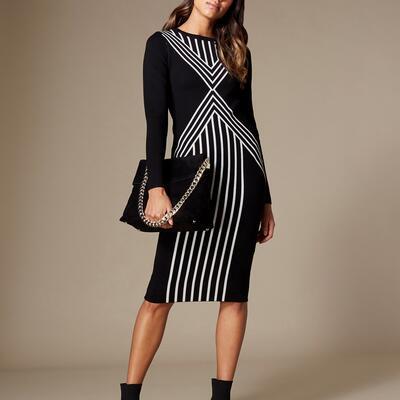 Body Contour Midi Dress Karen Millen