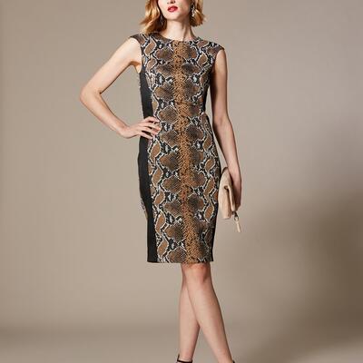 Snakeskin Pencil Dress Karen Millen