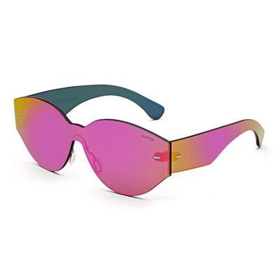 Super by Retrosuperfuture Tuttolente Drew Mama Iridescent Oval Sunglasses, Pink