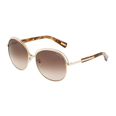 Lanvin Oversized Round Metal Sunglasses