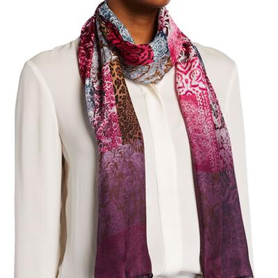 Vince Camuto Silk Patched Ombre Oblong