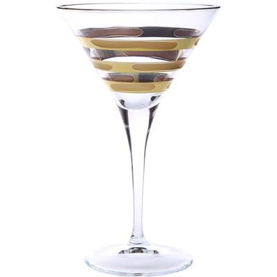 Ashires Martini Glasses w/ 14K Gold, Set of 4