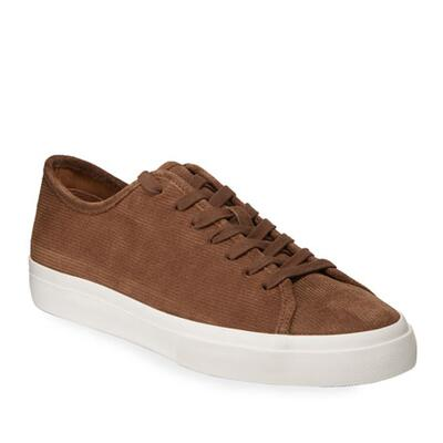 Vince Mens Farrell-3 Leather Low-Top Sneakers