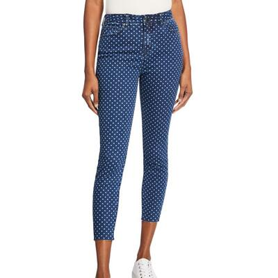 Velvet Heart Hallie Polka-Dot High-Rise Jeans