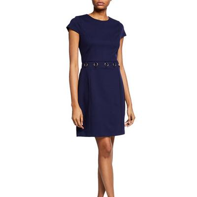 MICHAEL Michael Kors O-Ring Cap-Sleeve A-Line Dress