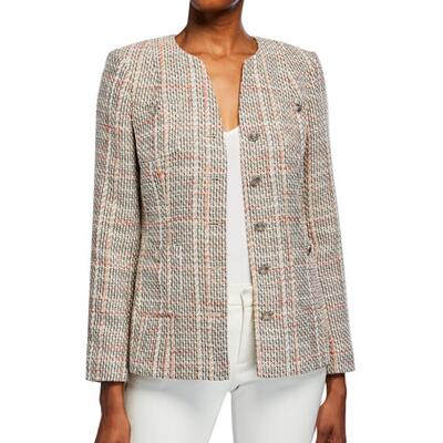 Karl Lagerfeld Paris Tweed Button-Front Jacket