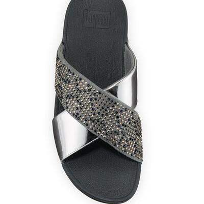 Fitflop Lulu Leopard Metallic Crystal Sandals