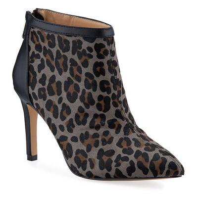 Adrienne Vittadini Nyla Leopard-Print Stiletto Booties