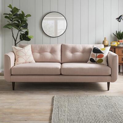 Orla Kiely Linden Three Seater Sofa - Tolka Rose