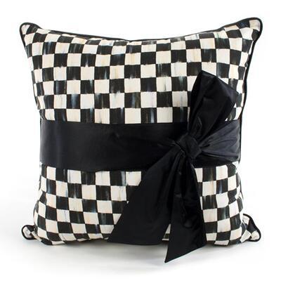 MacKenzie-Childs Courtly Check Sash Pillow