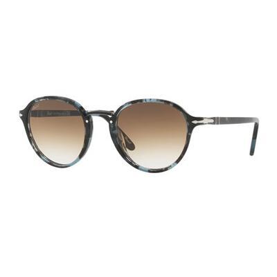 Persol Mens Round Tortoiseshell Acetate Sunglasses