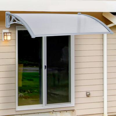 Outsunny Door Awning Cover Bracket Canopy Patio Porch Window - 140cm x 70cm - UKB70-0400331