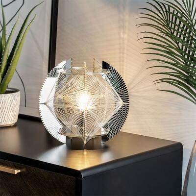 Weston Table Lamp, Silver BHS