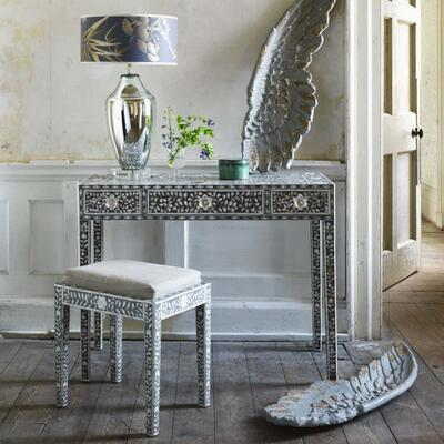 Maxi Grey Mother of Pearl Console Table Graham & Green