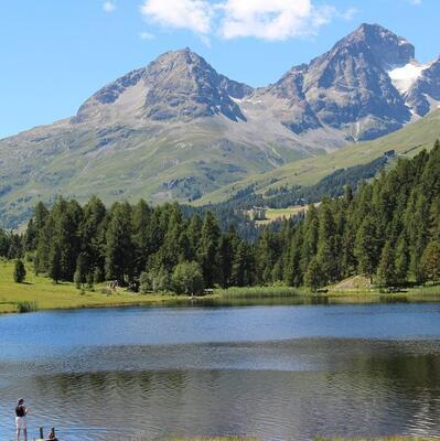 Lake of Staz (Lej da Staz) (St. Moritz) Switzerland