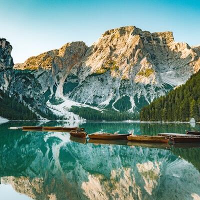 Pragser Wildsee, Prags, South Tyrol, Italy