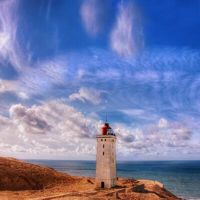 Rubjerg Knude lighthouse, Lokken, Denmark