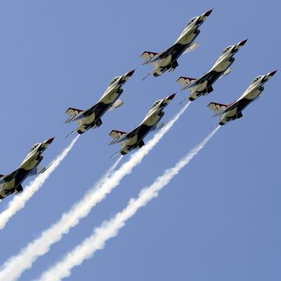 Watch a formation flying show