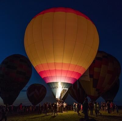 Go on a  balloon flight at dawn