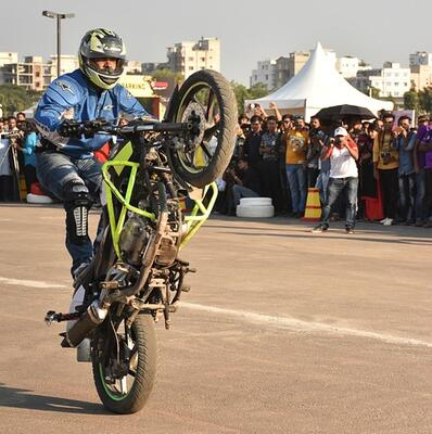Master a motorbike stunt