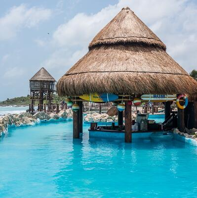 Have a drink at a swim up pool bar