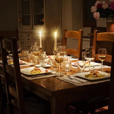 Have dinner by candlelight