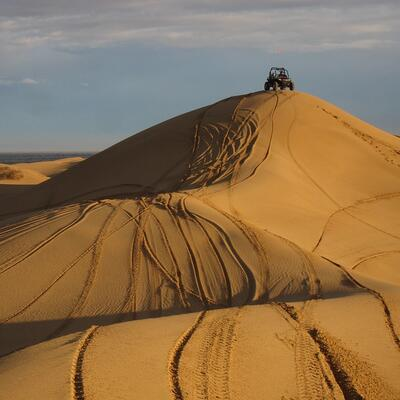 Drive over a sand dune
