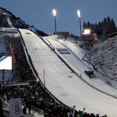 Watch ski jumping