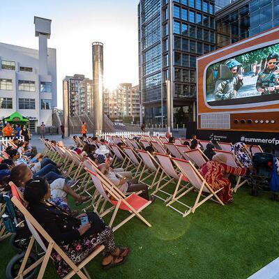 Experience an outdoor cinema