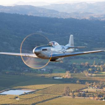 Fly in a  P51 Mustang