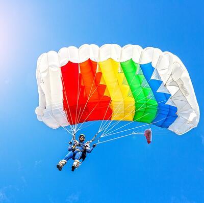 Make a parachute jump