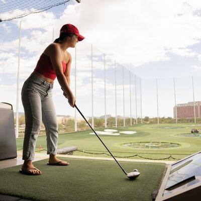 Have a go at a driving range