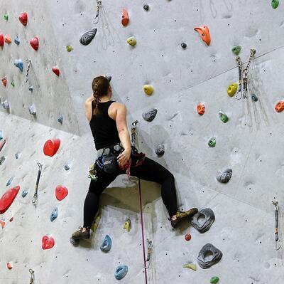 Go indoor rock climbing